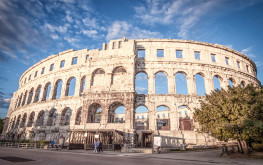 Arena was built in the 1st century CE, as the city of Pula became a regional center of Roman rule, called Pietas Julia.